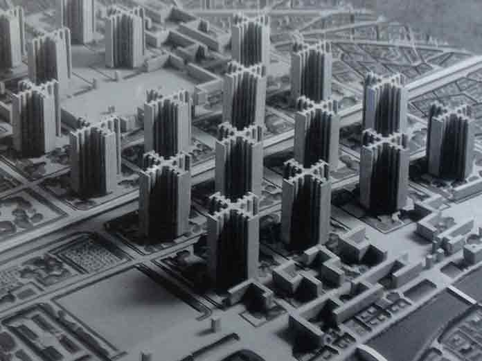 La Ville Radieuse as the modern city idea of Corbusier