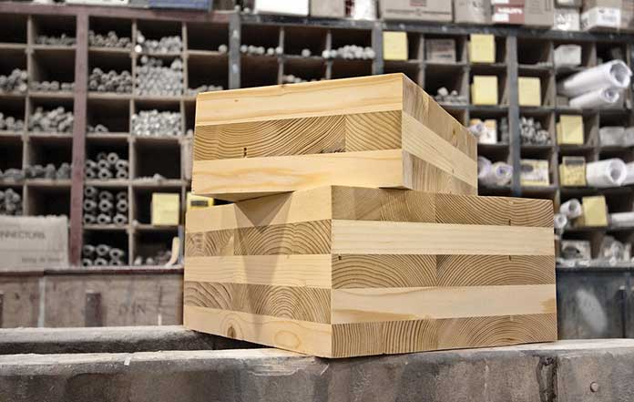 CLT Cross Laminated Wooden blocks examples