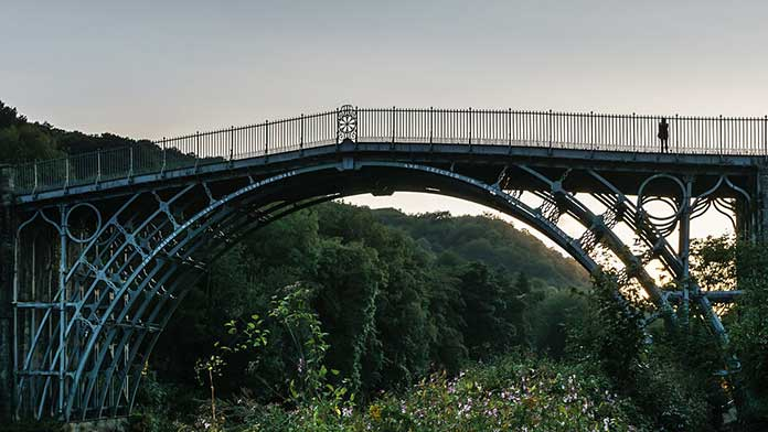 Coalbrookdale Bridge or with the other name The Iron Bridge