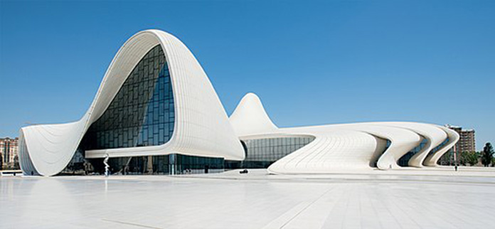 Heydar Aliyev Cultural Center, the magnificent architecture of Zaha Hadid with its carrier system consisting of steel space frame system