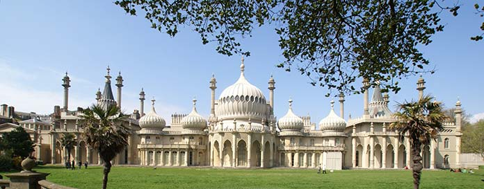 Royal Pavilion located in England and its orientalist architecture