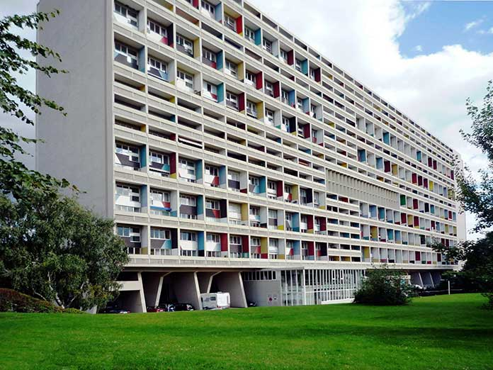 Corbusierhaus which is an example of Unité d'Habitation and located in Berlin