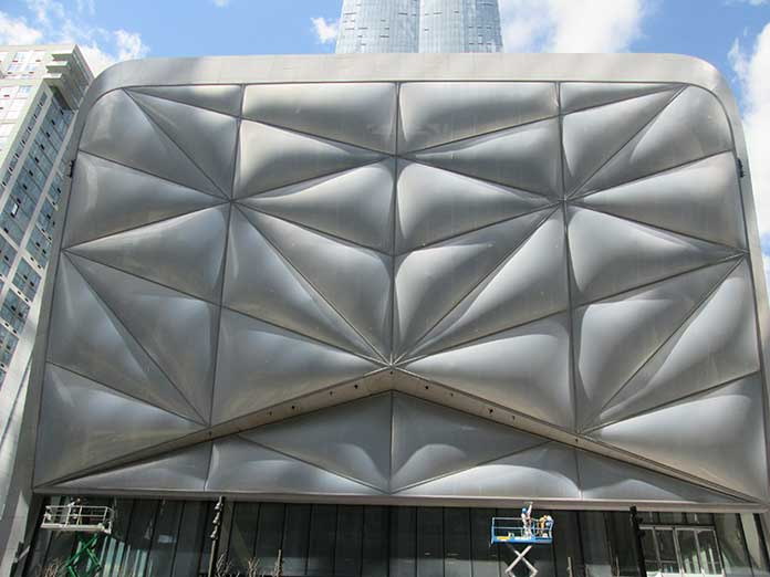 Shell material of the Shed structure designed by Diller Scofido