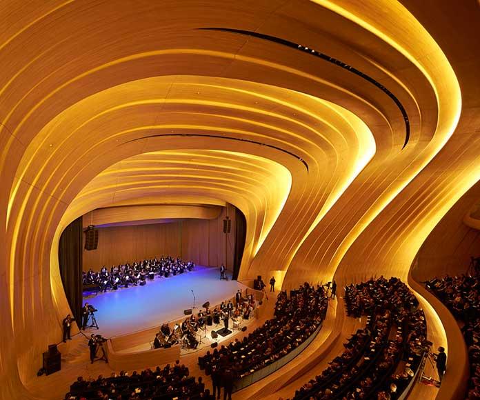 The auditorium of Heydar Aliyev Center