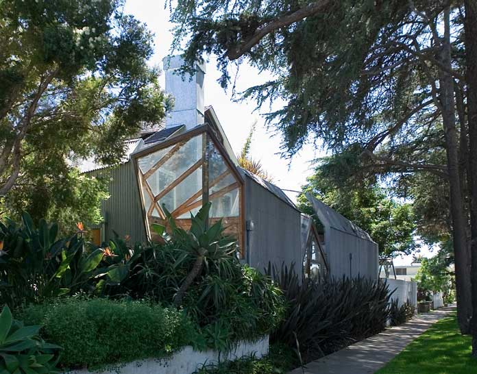 Gehry House, designed by Frank Gehry for deconstructivism movement